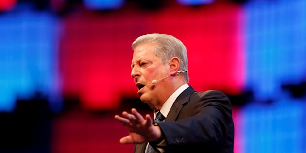 Al Gore speaks in Lisbon, Portugal on Nov.  9, 2017.