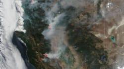 Ce cliché d'un satellite de la Nasa donne une idée de l'ampleur des incendies en