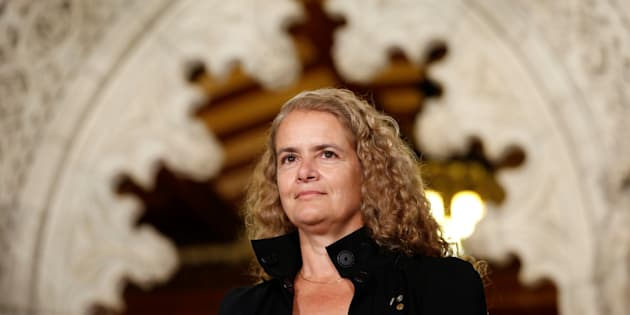 Former astronaut Julie Payette takes part in a news conference announcing her appointment as Canada's next governor general in the Senate foyer on Parliament Hill on July 13, 2017.