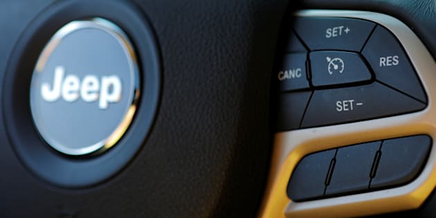 The cruise control on a 2017 Chrysler Jeep Cherokee in Medford, Mass., May 24. Fiat Chrysler is recalling 4.8 million vehicles in the U.S. because in rare but terrifying circumstances, drivers may not be able to turn off the cruise control.