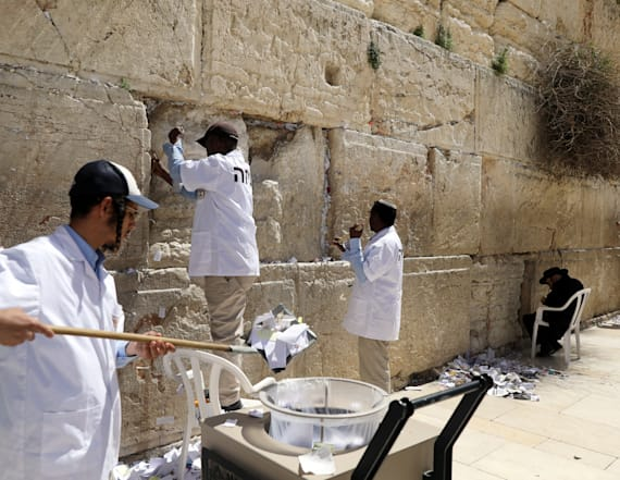 Spring cleaning for Western Wall's notes to God