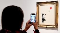 Banksy muestra cómo preparó la destrucción de su obra