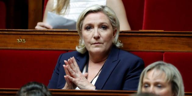 Marine Le Pen sur les bancs de l'Assemblée nationale le 27 juin.