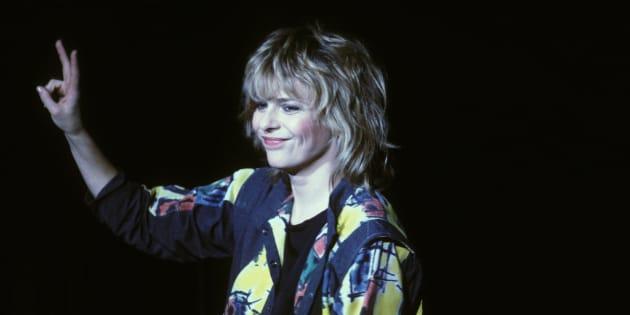France Gall en concert en novembre 1984 a Bruxelles, Belgique.