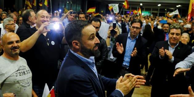 Santiago Abascal, leader de Vox, parti d'extrême droite espagnol.