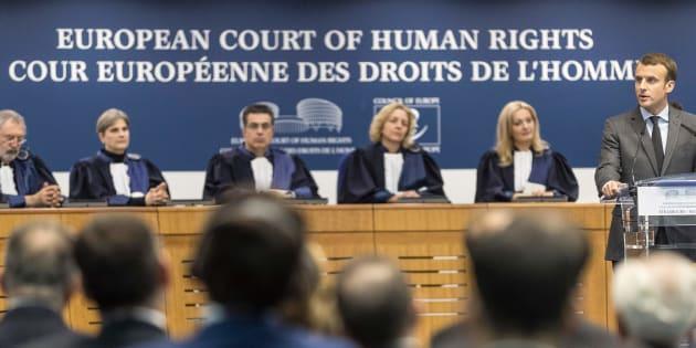 Macron plaide devant la CEDH pour sa loi antiterroriste, une première pour un président français