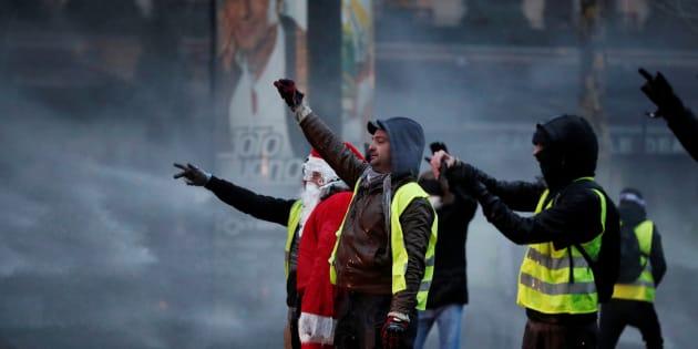 Protesta de los chalecos amarillos.