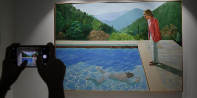 """Portrait of an Artist (Pool with two figures)"" en exposition chez Christie's."