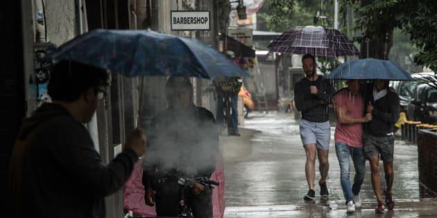 Lluvia causa estragos en CDMX. Las principales afectaciones se registraron en las delegaciones Álvaro Obregón, Azcapotzalco, Cuajimalpa y Tlalpan.