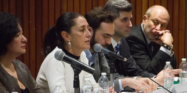 Claudia Sheinbaum, jefa de Gobierno Electa, encabezó la presentación del Plan de Movilidad para la Ciudad, que se realizo en la Unidad Interdisciplinaria de UPIICSA del Instituto Politécnico Nacional.