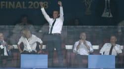 La joie (pas du tout contenue) d'Emmanuel Macron à la finale de la Coupe du