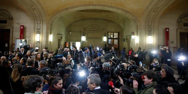 Jawad Bendaoud (jugé au palais de justice de Paris, ici photographié le 24 janvier) a fait le show jusqu'au dernier jour