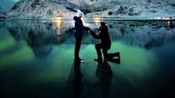 This Guy Proposed Under The Northern Lights And The Pics Are