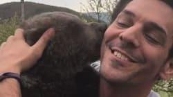 Cet ours adore vraiment faire un câlin à Tomer
