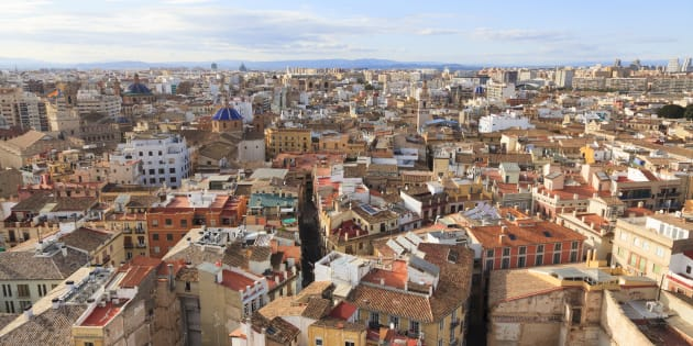 Rooftop cityscape of Valencia in Spain, Valencia, Spain. (Photo by: Loop Images/UIG via Getty Images)