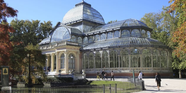 El Palacio de Cristal en el parque de El Retiro