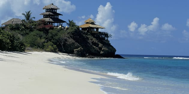 Necker Island is Richard Branson's private island.