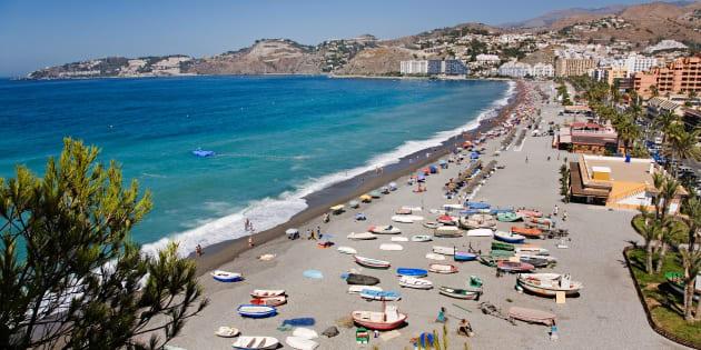 AKK1TY san cristobal or china beach almunecar tropical coast Granada Andalusia Spain