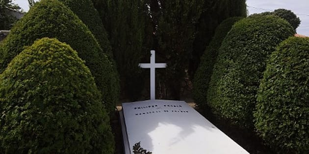 La tombe du maréchal Pétain vandalisée (photo d'illustration de la sépulture prise en 2013)
