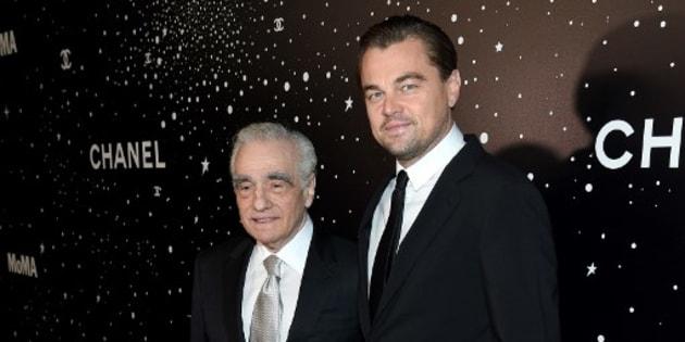 Martin Scorsese et Leonardo DiCaprio sur le tapis rouge du gala du MoMA, le 19 novembre 2018 à New York.