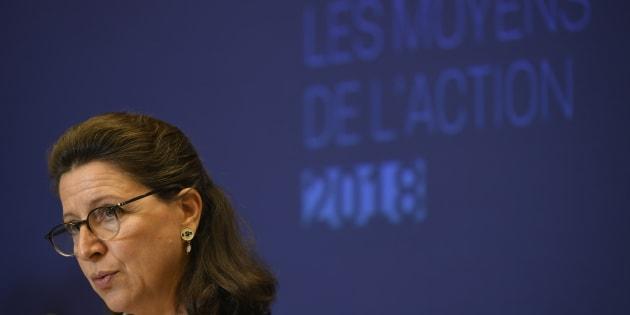 La ministre de la Santé et des solidarités Agnès Buzyn lors de la présentation du PLFSS.