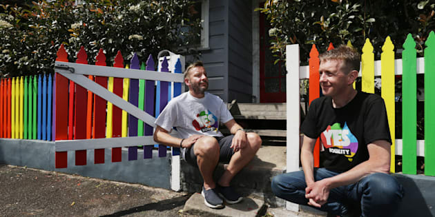 Tiernan Brady (right) reflects on the marriage equality survey