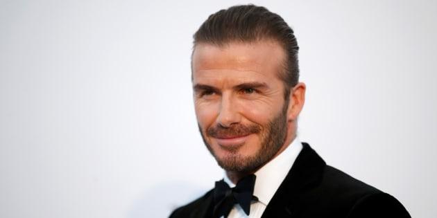 David Beckham à son arrivée au gala amfAR 2017 le 25 mai 2017