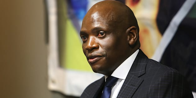 Ousted SABC Chief Operating Officer Hlaudi Motsoeneng seen at a press briefing at the Millpark Hotel on August 31, 2017 in Johannesburg, South Africa.