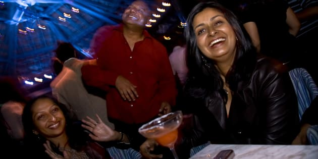 IT consultant, Bejoy George with his wife, Bina and friends enjoy a night out at a club in Bangalore. Image used for representative purpose only.