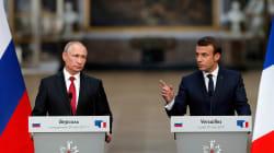 Standing Right Next To Putin, Macron Denounces Russian Election