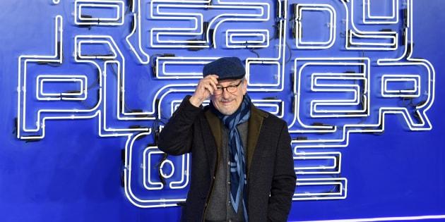 """Steven Spielberg lors de la première européenne de """"Ready Player One"""" au """"Vue Cinema"""" à Londres."""