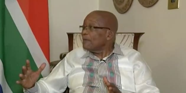 President Jacob Zuma during an interview with the SABC in Pretoria on Thursday.