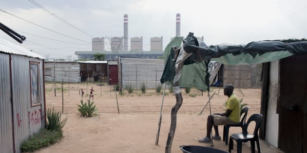 Lephalale residents' view of the new Medupi coal power plant.