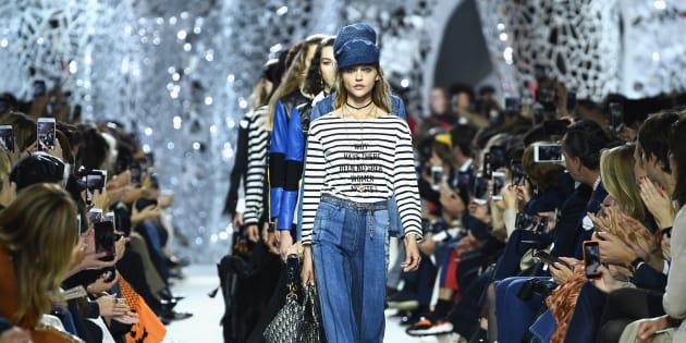 Les mannequins du défilé Christian Dior de ce mardi 26 septembre à la Fashion Week de Paris.