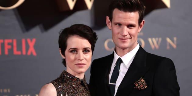 """Claire Foy alias Elizabeth II, a été moins payée que son homologue masculin, Matt Smith, alias le Prince Philip, dans """"The Crown"""""""