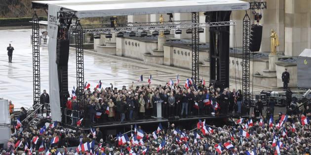 L'équipe de François Fillon revendique 200.000 participants au Trocadéro