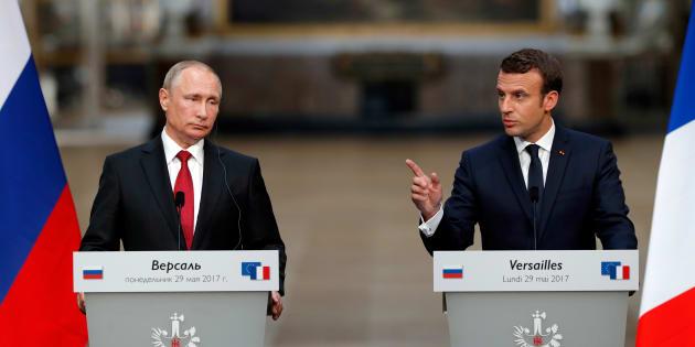 Macron incontra Putin: