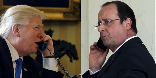"""Accueil des réfugiés, """"repli sur soi""""... François Hollande avertit Donald Trump au téléphone"""