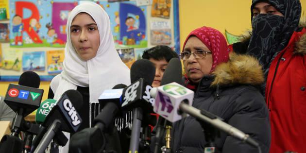 Khawlah Noman et sa mère, 12 janvier 2018