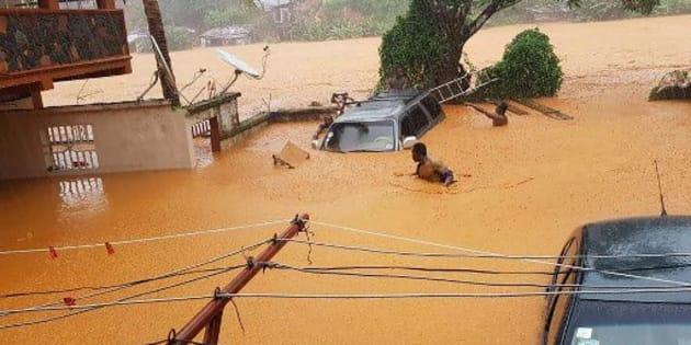 Fuertes inundaciones dejan al menos 312 muertos — Sierra Leona
