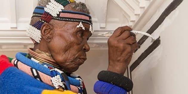 Renowned Ndebele artist Esther Mahlangu.