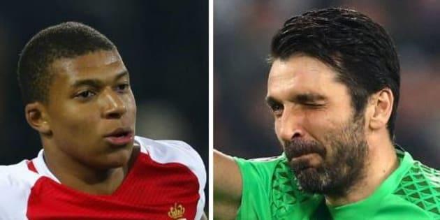 Kylian Mbappé opposé à Gianluigi Buffon en Ligue des champions.