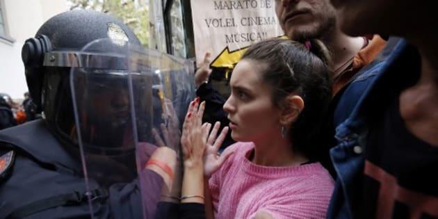 840 heridos por ir a las urnas en Cataluña — Referendo