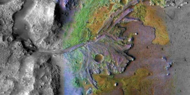 Le delta Jezero de Mars.