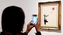 Un grafiti del famoso artista Banksy es la obra de arte preferida en Reino