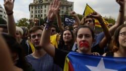 Marcha silenciosa en Cataluña tras el referéndum del