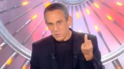 Thierry Ardisson répond à la polémique Squeezie avec un doigt