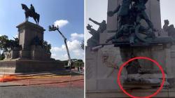 Il Garibaldi del Gianicolo danneggiato da un fulmine nella