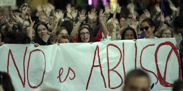 Manifestación en Madrid, el pasado 4 de mayo, contra la sentencia de La Manada.