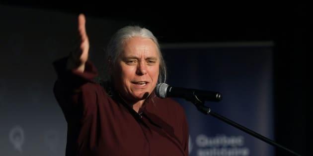 Manon Massé, députée de Ste-Marie-St-Jacques et porte-parole de Québec solidaire.